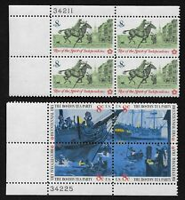 USA Lot of Two Mint 1973 American Bicentennial Plate Blocks, MNH/OG *VF/XF*