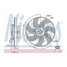 Fits VW Tiguan 2.0 TDI FWD Genuine Nissens Engine Cooling Right Radiator Fan
