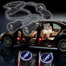 2x LED Car Door Welcome Laser Projector 3D Logo Ghost Shadow Lights For Jeep