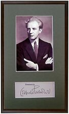 Conductor STOKOWSKI Original HAND SIGNED AUTOGRAPH + PHOTO + MAT Autogramme