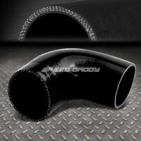Black 90 bend Silicone Reducer 2.5 to 1.75