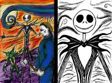 Jack Skellington Lot of 2 Prints Gremlins Stripe Michael Myers