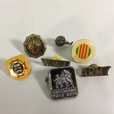 Legion Pins Military USA Veterans Lot 18  - Set of 7 Pins Vietnam Eastwood VFW