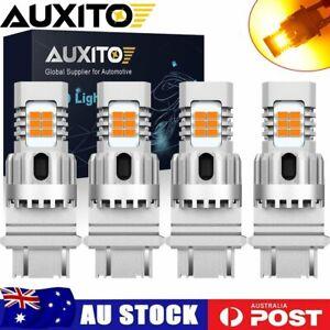 4x 3157/3156 Amber LED Turn Signal Sider Marker Light Bulb CANBUS No Hyper Flash