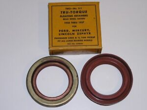 1928-38 Ford Model A B V8 Lincoln Rear Wheel Outer Seals (2)