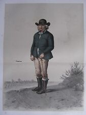 1872 PRINT SWEDISH PEASANT COSTUME ~ HARJAGER DISTRICT Skanska Folkdragter