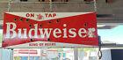 "Vintage Double Sided Porcelein Neon Budwesier Sign - 48"" x 18"" - Arizona Bar"