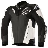 Alpinestars Atem v3 Leather Sports Motorcycle Jacket Black & White
