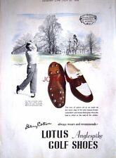 1949 LOTUS Golf Shoes Advert 'MOOR PARK, Rickmansworth' - Henry Cotton Print AD