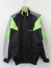 H19 Vtg Adidas 90s Men Track Jacket Black Firebird Trefoil D4 F168 GB36/38 S