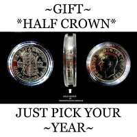 BIRTHDAY COIN, ORIGINAL OLD HALF CROWN IDEAL FOR SMALL GIFTS. PRESENT...