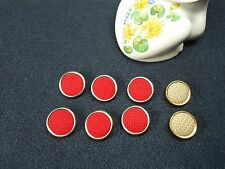Vintage Round Metal Shank Knit Fabric Buttons-Qty 8