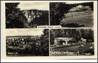 Heilstätte Adorf Sachsen DDR 4-fach Mehrbildkarte 1957 gelaufen nach Grüna Sa.