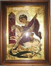 """Icono """"hl. Georg"""" mano pintado, hoja dorado-reproducción"""