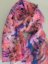 100% Mulberry Silk Scarf Glittery ✨ Gold Summer Pink 🇦🇺 Crafted 64x172cm