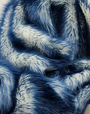 "Faux Fur fake navy Frosted tips fabric 60"" Wide sold by the yard upholstery"