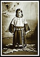 ⫸ 851 Postcard Hunkpapa Sioux Maiden Native American Indian 1904 Fiske Photo NEW