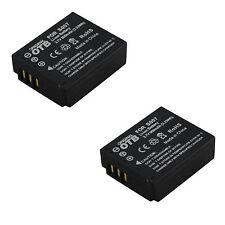 2x Akku für Panasonic Lumix DMC-TZ1 DMC-TZ2 DMC-TZ3 DMC-TZ4 DMC-TZ5