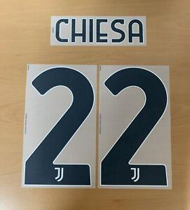 Dekographics Official Adidas Juventus Home 3rd Nameset Print CHIESA 22 2020/21