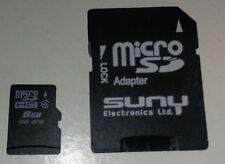 micro sd hc 8 gb class 4   micro sd adapter
