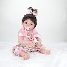 "22"" Full Body Vinyl Silicone Reborn Baby Dolls Lifelike Newborn Girl Doll Xmas"