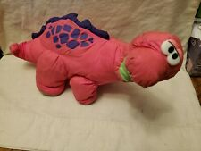 New listing 1992 Fisher Price Pink Puffalump Bruce Roaring Brontosaurus Dinosaur Plush