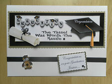 Luxury Hand-Made Graduation Card -Can be Personalised