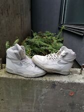 Vintage 1988 Nike Air Delta Force White Grey Collectible Basketball Shoes
