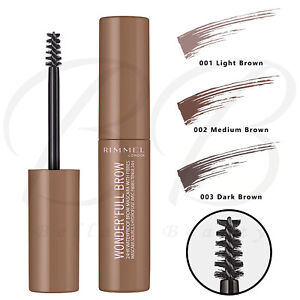 RIMMEL Wonder'Full 24hr Waterproof Eyebrow Mascara with Fibres NEW *ALL SHADES*