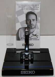 Seiko NASCAR Jimmie Johnson Watch Stand Display Kit