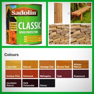 SADOLIN Classic  wood protection wood Stain 1Lt  for garden cladding decking