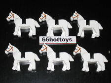 LEGO Accessories White Horse x6 New