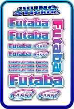 FUTABA SERVO RADIO RX TX 2.4G FLIGHT REMOTE CONTROL STICKERS FASST BLUE PINK W