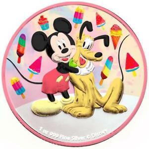 Niue 2020 $2 Mickey & Pluto - Ice Cream - 1 Oz Silbermünze