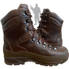 BRITISH ARMY - ITURRI Boots Brown GORE-TEX Wet Weather Leather Surplus Cadet
