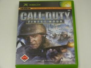 !!! XBOX CLASSIC SPIEL Call of Duty Finest Hour USK18 TOP !!!