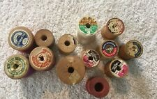 Wooden Spools From Sewing Thread. 13 Various Size