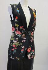 Dries van Noten Weste schwarz mit Blumen D38 F40 I42 black flowers veste ID4483