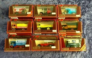 Matchbox Models of Yesteryear Job Lot x 9 with Original Boxes Collectable