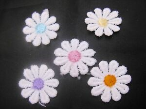 LACE DAISIES FLOWERS MOTIFS (SEWING, QUILTING, CRAFTS)