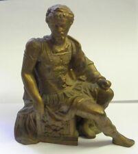 Roman Soldier White Metal Bronze Statue Clock Topper
