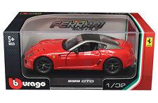 BBURAGO 1:32 W/B FERRARI 599 GTO RACE & PLAY DIECAST CAR MODEL RED 18-44024 RD