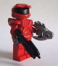 Lego Custom HALO MASTER CHIEF Spartan Minifigure -RED- Brickarms Needler & Rifle
