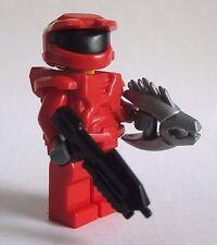 Lego Custom HALO MASTER CHIEF Spartan Minifigure -RED- Brickarms Needler & Rifle