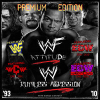 WWF / WWE / WCW / ECW / TNA Full episode collection (Online Membership)