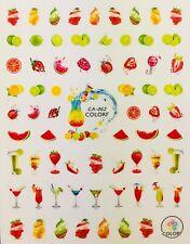 Nail Art 3D Decal Stickers Cocktails Bar Drinks Fruit Swirls CA062