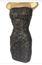 Karen MILLEN DJ172 Cocktail Dress. Black & metallic Gold. UK10. Rrp £150. BNWT.