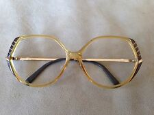 Saphira OPTYL Eyeglasses/Sunglasses Frames Germany 58-14-130 Honey w/ Brown Gold
