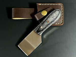 Leather craft cutting Skiver Blade Knife cutter Tools Grey wooden handle Sheath