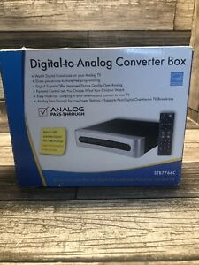 RCA Digital To Analog Converter Box Analog Pass-Through Digital TV Conversion